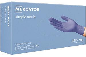 Rękawice ochronne niebieskie nitrylowe